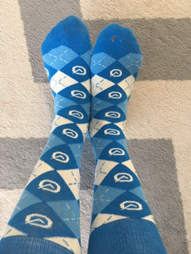 First appearance of Clio socks